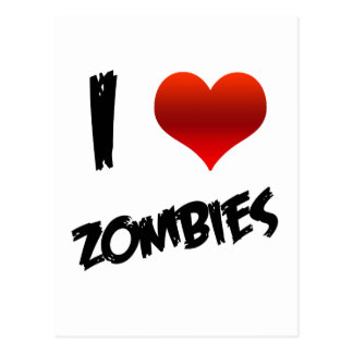 I Heart Zombies Postcard
