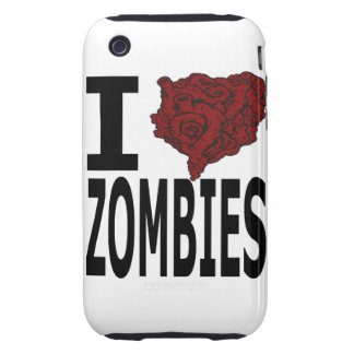 I Heart Zombies Tough iPhone 3 Cases