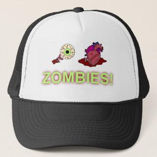 (I) (HEART) ZOMBIES! TRUCKER HAT