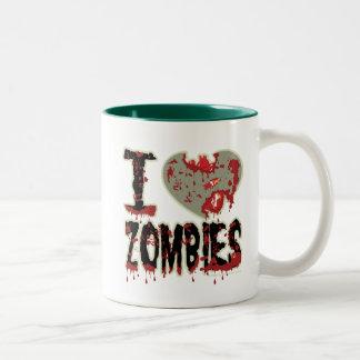 i heart zombies! Two-Tone coffee mug