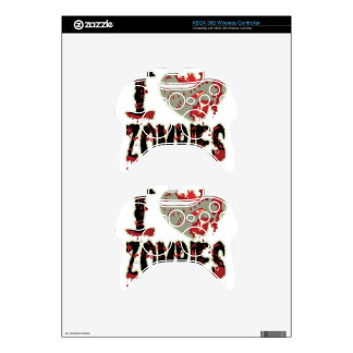 i heart zombies xbox 360 controller decal