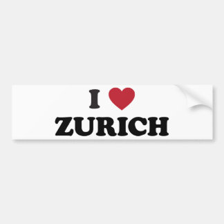 I Heart Zurich Switzerland Bumper Sticker
