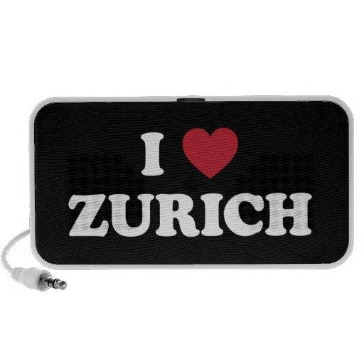 I Heart Zurich Switzerland Mini Speakers
