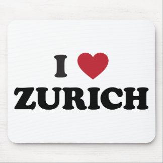 I Heart Zurich Switzerland Mousepads