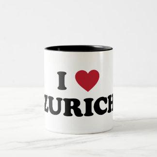 I Heart Zurich Switzerland Coffee Mugs