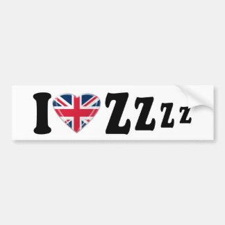 I Heart Zzzz Bumper Sticker