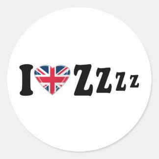 I Heart Zzzz Classic Round Sticker
