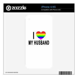 I HEARTH RAINBOW LOVE GAY LESBIAN HUSBAND.png Decals For iPhone 4