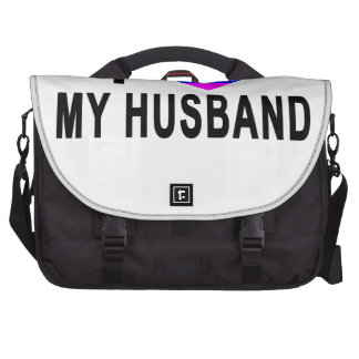 I HEARTH RAINBOW LOVE GAY LESBIAN HUSBAND.png Bags For Laptop