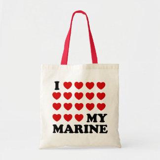 I (hearts) my Marine Tote Bag