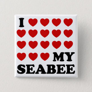 I (hearts) my Seabee Button