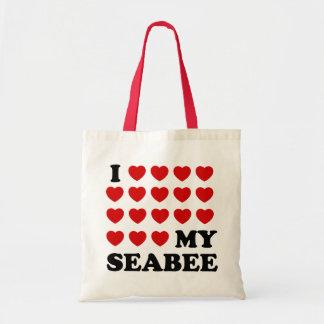 I (hearts) my Seabee Tote Bag