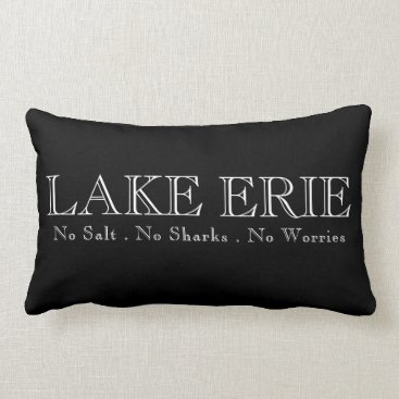 Beach Themed I heat Lake Erie Lumbar Pillow