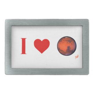 I hebilla de plata de Marte del corazón Hebillas De Cinturón Rectangulares