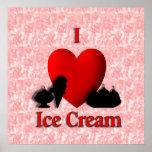 I helado del corazón impresiones