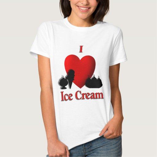 I helado del corazón poleras