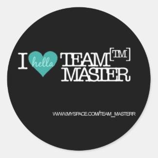 I Hella Love (Heart) TeamMaster [TM] Classic Round Sticker