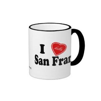 I (Hella) Love San Fran Ringer Coffee Mug