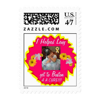 I Helped Lexy get to Boston 4 A CURE!!! (Stamp) Postage