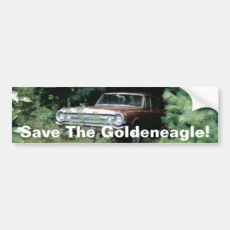 I Helped Save The Goldeneagle of Old Orchard Beach Bumper Sticker