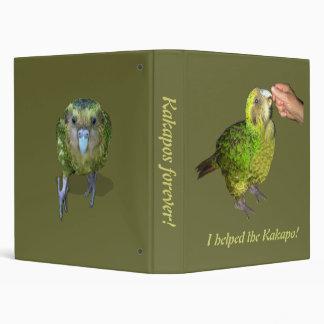 I helped the Kakapo! Kakapos forever! 3 Ring Binder