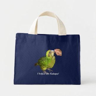 I helped the kakapo! mini tote bag