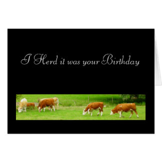 I Herd it was your Birthday Card