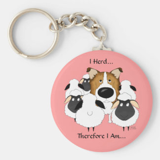 I Herd...Therefore I Am Keychain