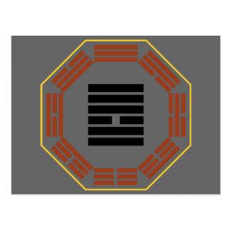 """I Hexagram 10 Lu de Ching """"que pisa """" Tarjeta Postal"""