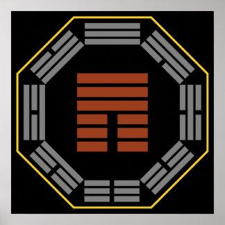 """I Hexagram 12 P'i """"obstrucción """" de Ching Impresiones"""