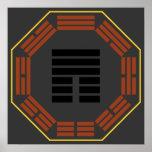 """I Hexagram 12 P'i """"obstrucción """" de Ching Posters"""