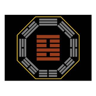 """I Hexagram 22 pi de Ching """"que adora """" Tarjeta Postal"""