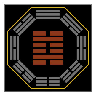 """I Hexagram 29 K'an de Ching """"el abismo """" Impresiones"""
