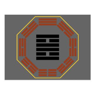 "I Hexagram 30 Li ""fuego "" de Ching Postales"
