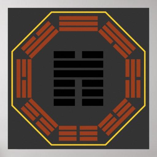 """I Hexagram 45 Ts'ui """"reunión """" de Ching Póster"""
