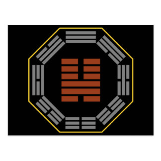 "I Hexagram 46 Sheng de Ching ""que asciende "" Tarjetas Postales"