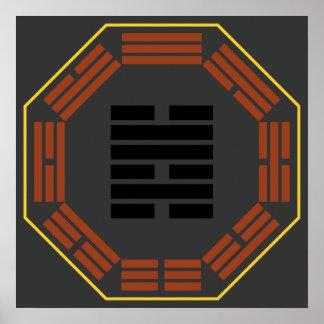 "I Hexagram 47 K'un ""opresión "" de Ching Poster"