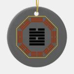 """I Hexagram 58 Tui """"alegría """" de Ching Ornaments Para Arbol De Navidad"""