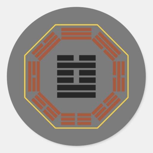 """I Hexagram 60 Chieh """"limitación """" de Ching Etiqueta Redonda"""