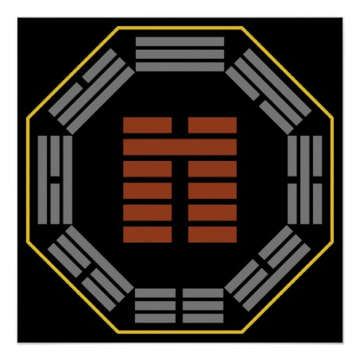 """I Hexagram 8 pi """"acuerdo """" de Ching Posters"""