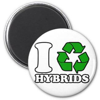 I híbridos del corazón imán redondo 5 cm