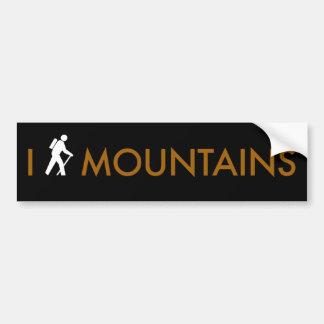 I Hike Mountains Car Bumper Sticker