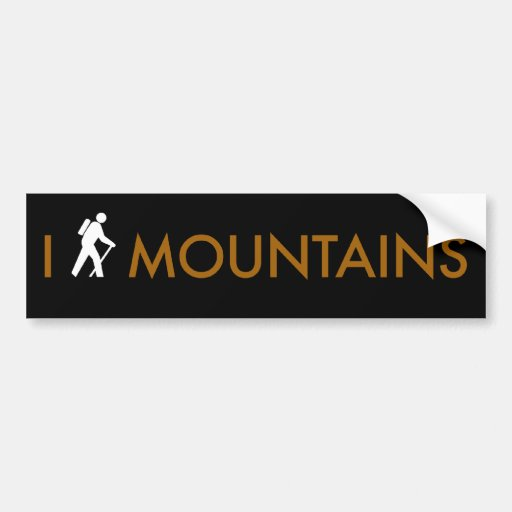 I Hike Mountains Bumper Stickers