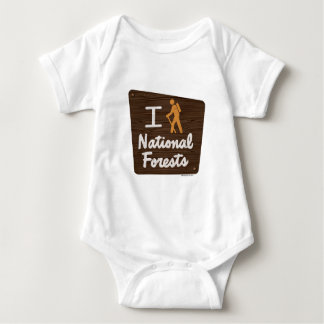I HIKE NATIONAL FORESTS BABY BODYSUIT