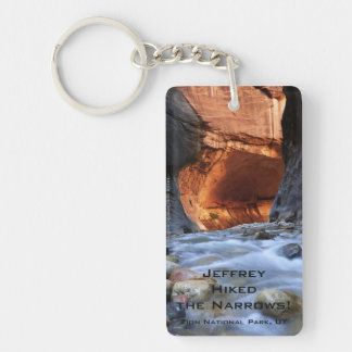 I Hiked the Narrows Zion National Park Keychain