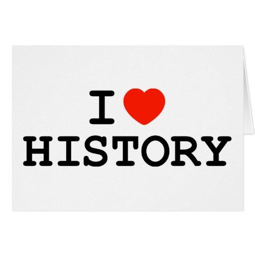 I historia del corazón tarjeta de felicitación