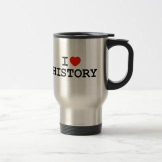 I historia del corazón taza de viaje de acero inoxidable