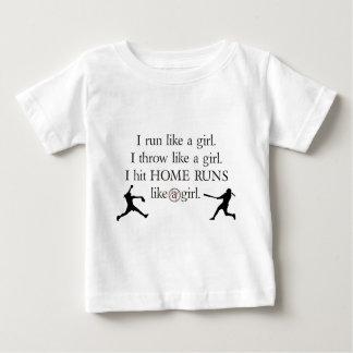 I Hit Home Runs Like a Girl Baby T-Shirt