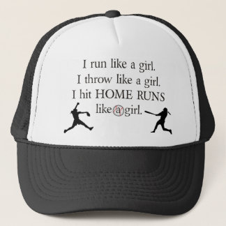 I Hit Home Runs Like a Girl Trucker Hat