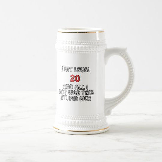 I Hit Level 20 and All I Got ... Beer Stein